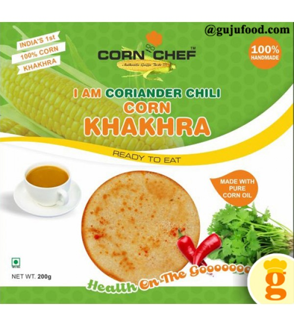 Corieander chilli corn khakhra 400gm