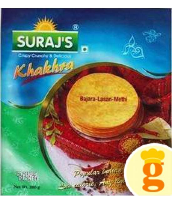 Bajara Lasan Methi Khakhra